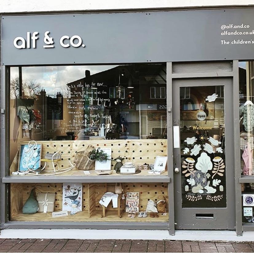 Alf & Co shop front.